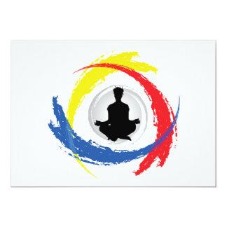 Yoga Tricolor Emblem Card