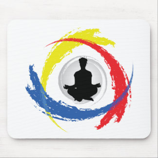 Yoga Tricolor Emblem Mouse Pad
