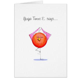 Yoga Tweet E. Doodle Card