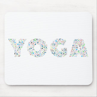 Yoga Typography Mouse Pad