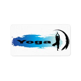 Yoga única etiquetas de dirección