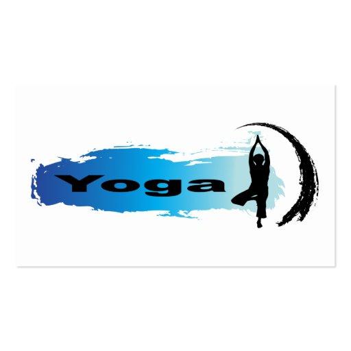 Yoga única tarjeta de visita
