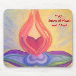 Yoga: Unión del mousepad del corazón y de la mente