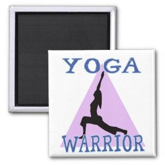 Yoga Warrior 2 Inch Square Magnet