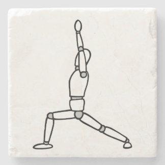 Yoga Warrior Coaster Stone Coaster