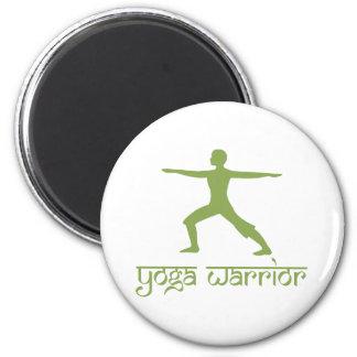 Yoga Warrior Pose 2 Inch Round Magnet