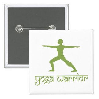 Yoga Warrior Pose Button