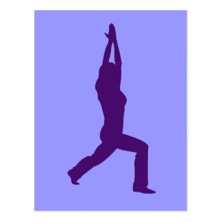 Yoga Warrior Pose Giftware Postcard