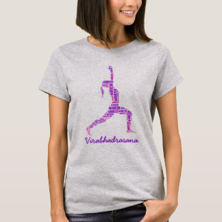 Yoga Warrior Pose In Shades of Purple T-Shirt