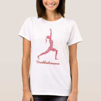 Yoga Warrior Pose In Shades of Red T-Shirt