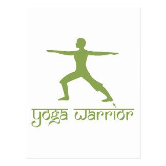 Yoga Warrior Pose Post Cards