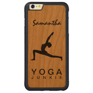 Yoga Warrior Pose Silhouette Wood iPhone 6 6S Plus Carved® Cherry iPhone 6 Plus Bumper