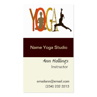 Yoga  Wellness Fitness Modern Text Designs Double-Sided Standard Business Cards (Pack Of 100)
