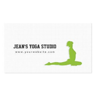 Yoga & Wellness Green Girl Business Card