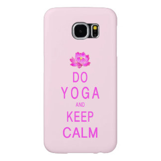 Yoga with Lotus Flower Samsung Galaxy S6 Case