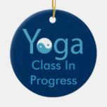 Yoga with Yin & Yang door hanger Christmas Ornaments