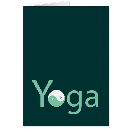 Yoga with Yin Yang Greeting Card