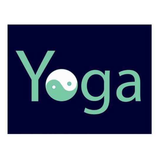 Yoga with Yin Yang Postcard