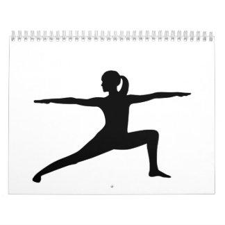 Yoga woman wall calendar