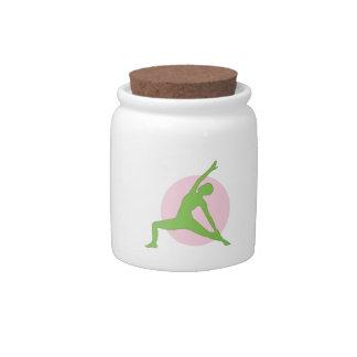 Yoga Woman Candy Jar