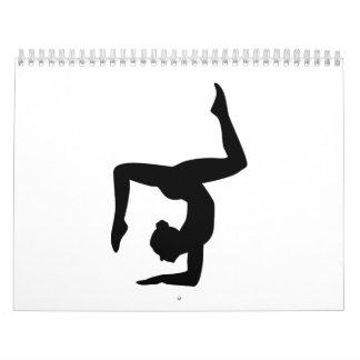 Yoga woman girl calendar