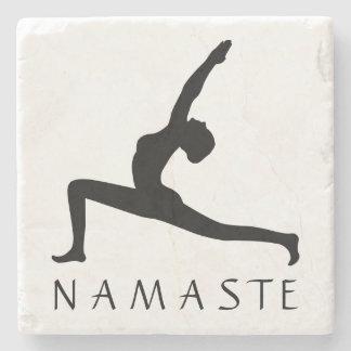 Yoga Woman Posing Silhouette Custom Stone Coasters