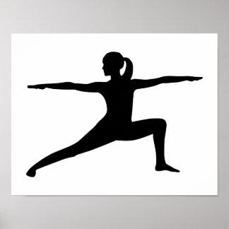 Yoga woman poster