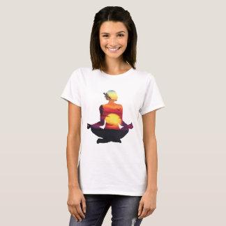 Yoga Woman Sunset Silhouette T-Shirt