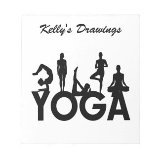Yoga Women Silhouettes Note Pad