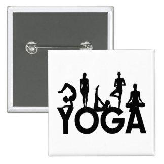 Yoga Women Silhouettes Pinback Button
