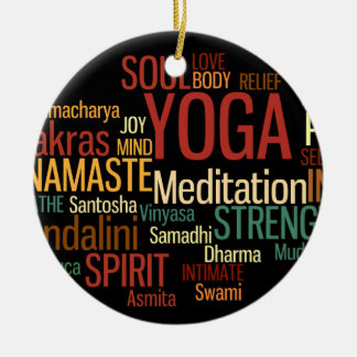 YOGA Words Ornament
