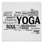 YOGA Words Poster
