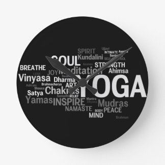 YOGA Words Wall Clock
