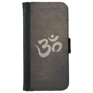 Yoga y meditación del símbolo de OM del Grunge Funda Cartera Para iPhone 6