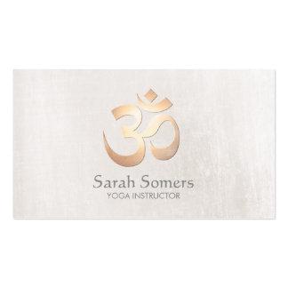 Yoga y meditación del símbolo de OM elegantes de Tarjetas De Visita