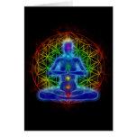 Yoga y meditación - flor de la vida tarjeta de felicitación
