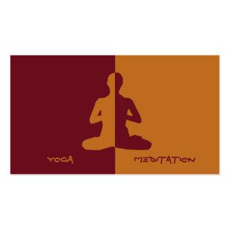 Yoga y meditación tarjetas de visita