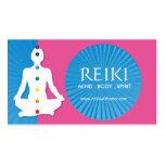 Yoga y tarjetas de visita de Reiki