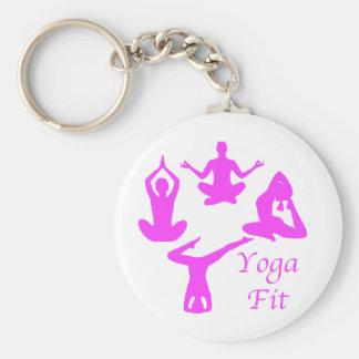 Yoga YogaFit Keychain
