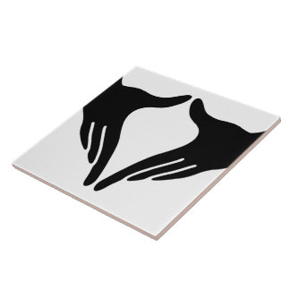 Yoga Yoni Mudra Ceramic Tile