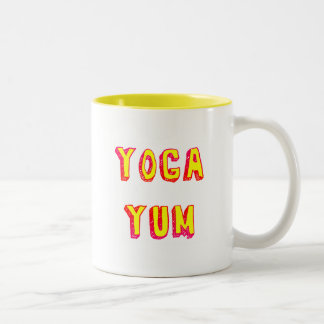 Yoga Yum Yellow Text Mug