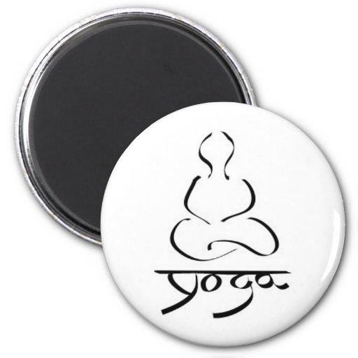 Yoga - zen de la edad de Prana del Hinduism de la  Iman Para Frigorífico