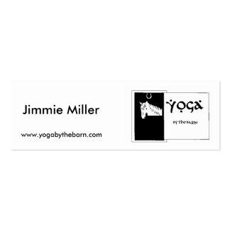 YOGAbythebarn business card