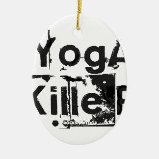 YogaKiller3.ai Christmas Tree Ornament