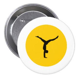 """Yogamoji™ Handstand Split """"Y"""" Button"""