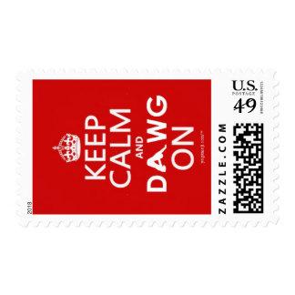 Yogamoji™ Keep Calm and Dawg On Postage Stamps