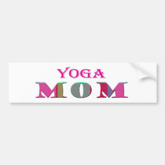YogaMom Car Bumper Sticker