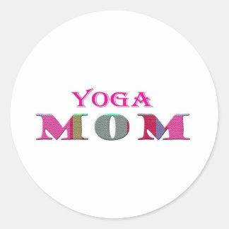 YogaMom Classic Round Sticker