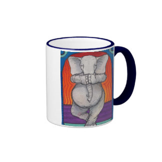 Yogaphant 1 taza manejada azul del campanero