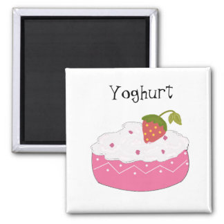 Yoghurt 2 Inch Square Magnet